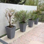 plantes en pot métal
