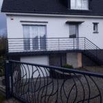 Escalier façade de maison