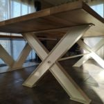 rénovation pied de table en métal